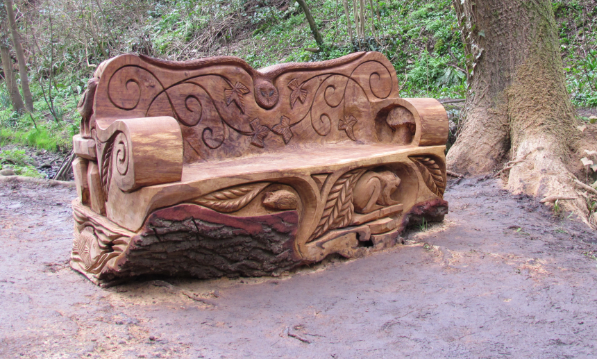 The Willow Bank bench